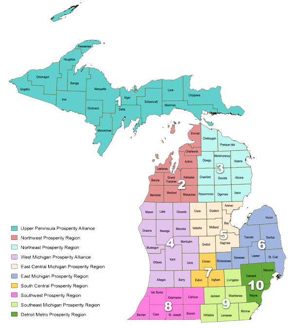 Michigan's Prosperity Region 2014